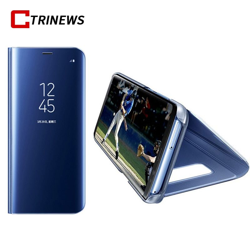 CTRINEWS Mirror Case For Samsung Galaxy Note 8 S8 S8 Plus Leather Smart Clear View Flip Stand Cover For Samsung S8 Phone Cases