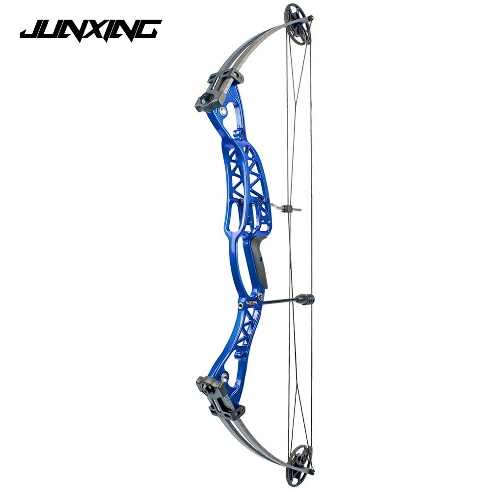 2 Color Compound Bow 40-60lbs Aluminum Alloy Slingshot Bow with Peep Sight for Adult Hunter Outdoor Hunting Shooting
