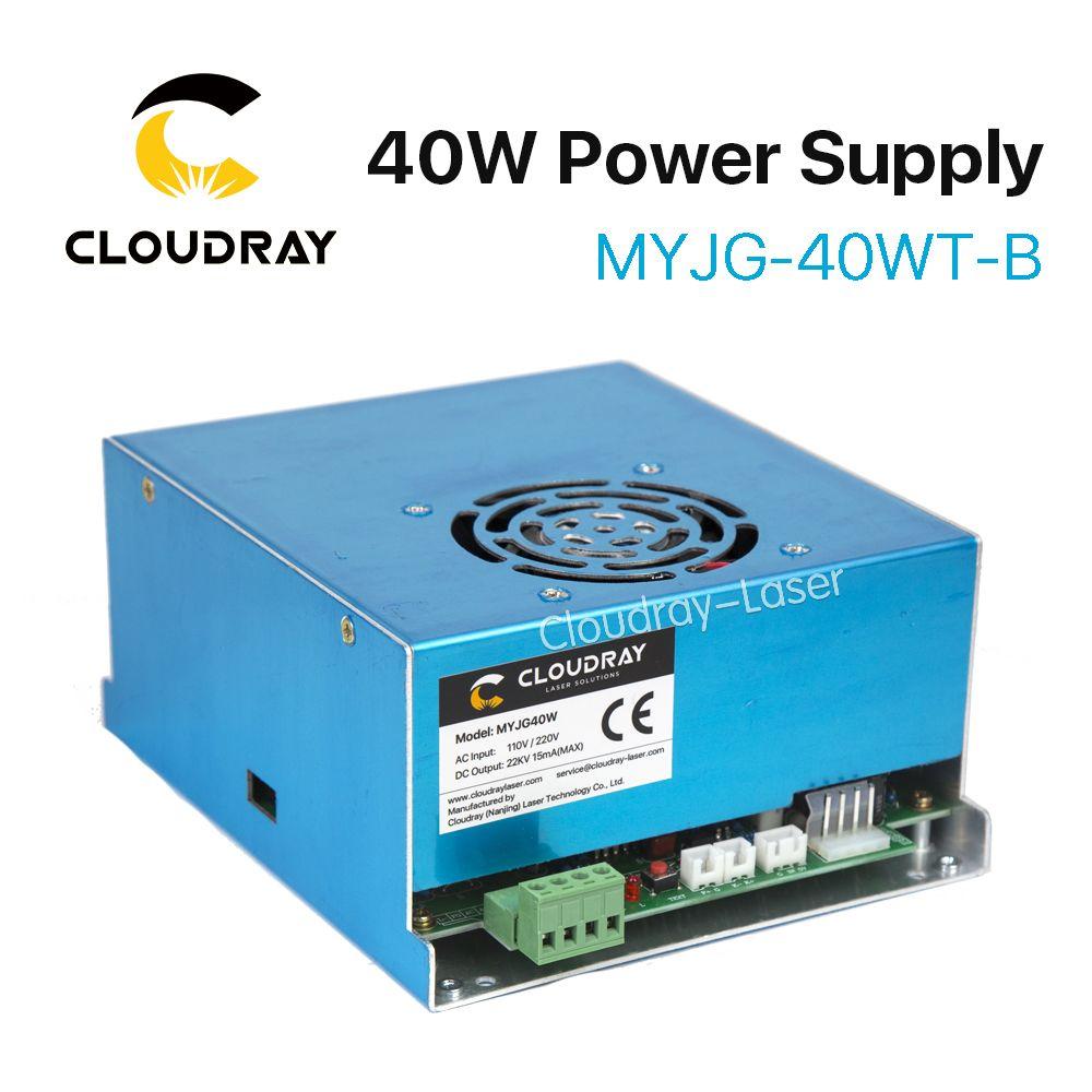 Cloudray CO2 Laser Power Supply 40W 110V/220V for Laser Tube Engraving Cutting Machine MYJG 40WT Model B