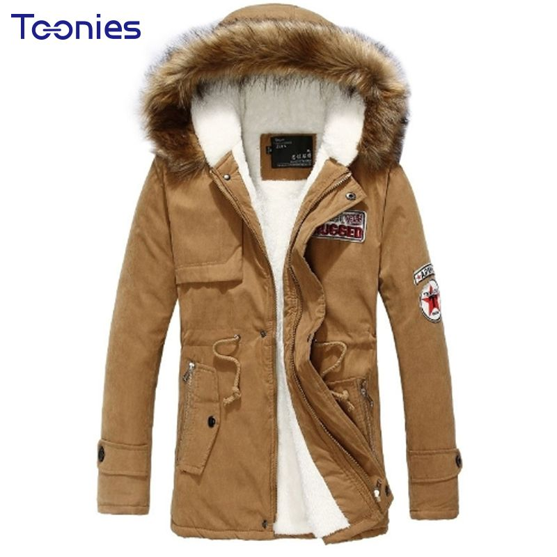 2017 New Fashion Hooded Winter Jacket Men Thick Warm Cotton Parkas Men Coat Outerwear Zipper Winter Jackets Mens Parka Coats