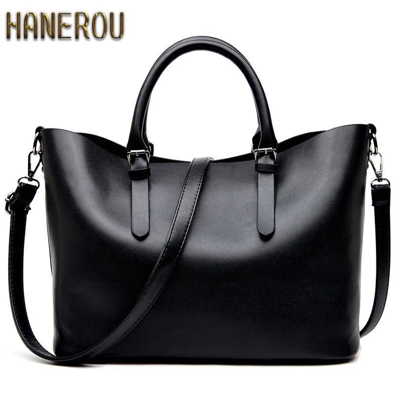 Bolso Mujer Negro 2018 Fashion Hobos Women Bag Ladies Brand Leather Handbags Spring Casual Tote Bag Big Shoulder Bags For Woman