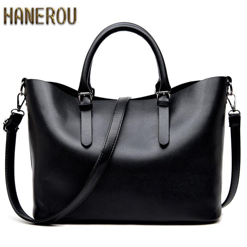 Bolso <font><b>Mujer</b></font> Negro 2018 Fashion Hobos Women Bag Ladies Brand Leather Handbags Spring Casual Tote Bag Big Shoulder Bags For Woman