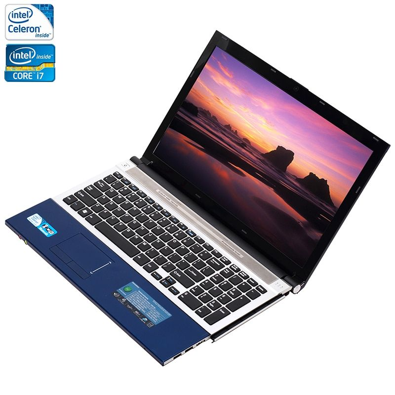 ZEUSLAP 15.6inch Intel Core i7 or Celeron 8GB RAM+1TB HDD Windows 7/10 System Wifi Bluetooth CD-RW ROM Laptop Notebook Computer