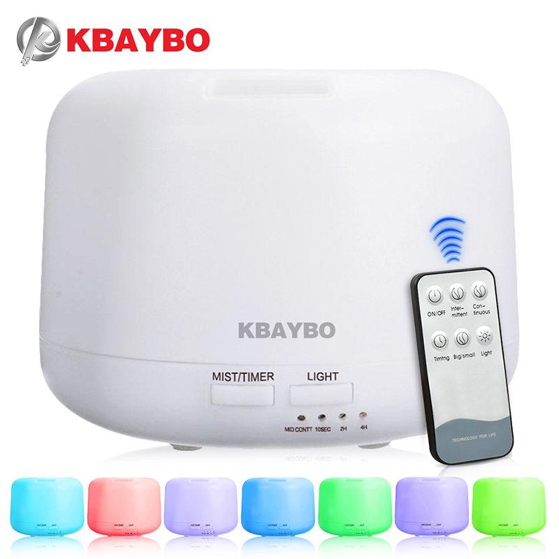 Humidificateur ultrasonique à télécommande d'arome d'air de 300ML avec 7 lumières de couleur diffuseur électrique d'arome d'huile essentielle d'aromathérapie