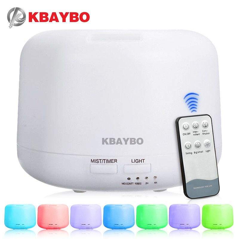Télécommande 300 ML D'air Ultrasonique Aroma Humidificateur Avec 7 Lumières de Couleur Électrique Aromathérapie Huile Essentielle Aroma Diffuseur
