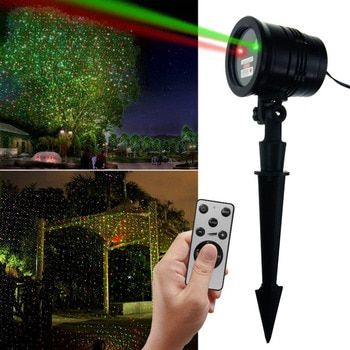Waterproof Laser Light Sky Stars Infrared Flood Lights Premium Series Red and Green with RF Remote Outdoor Flood Light