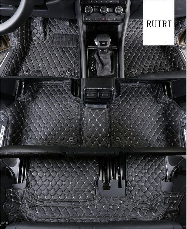 Good quality! Special car floor mats for Skoda KODIAQ 7 seats 2018 waterproof durable car carpets for Kodiaq 2017,Free shipping