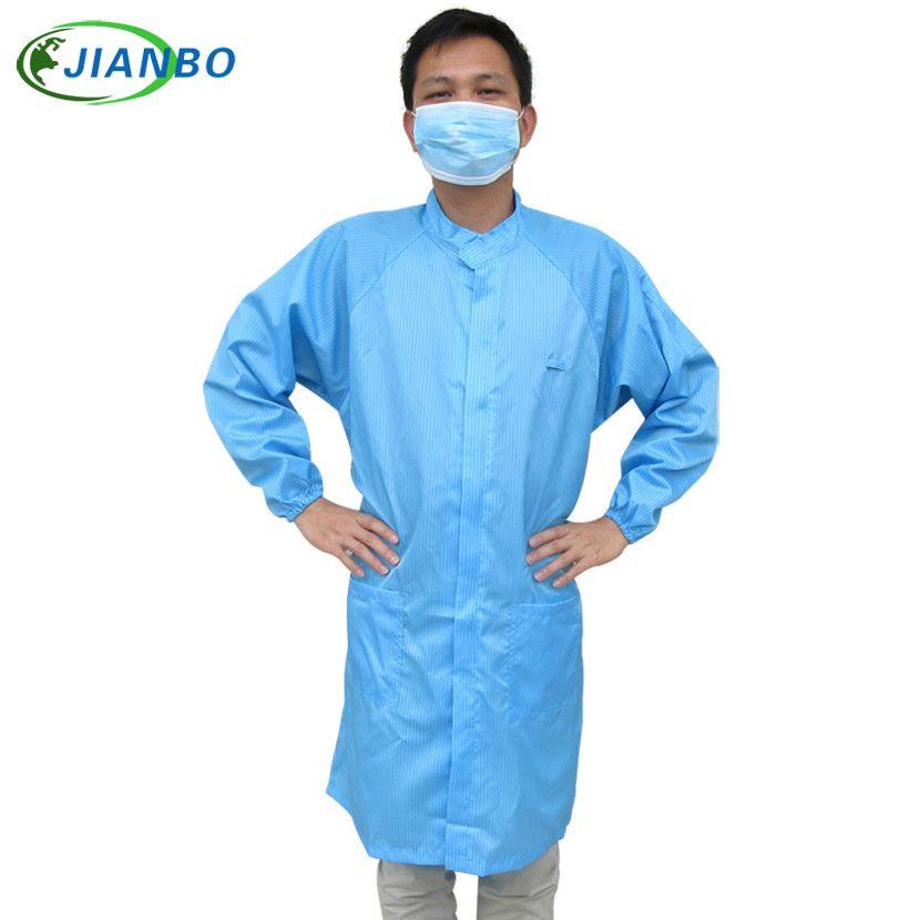Sortie d'usine Anti-statique sécurité salle blanche vêtements Anti-poussière vêtements de travail ESD hommes combinaisons de travail salle blanche Long costume de protection