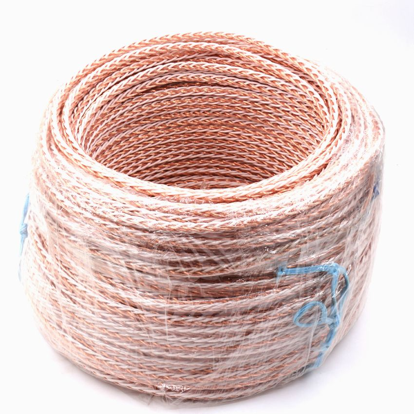 5M 4TC OCC Copper Wire Cable for HIFI Audio Speaker Amplifier Turntable CD Player 8 Strands