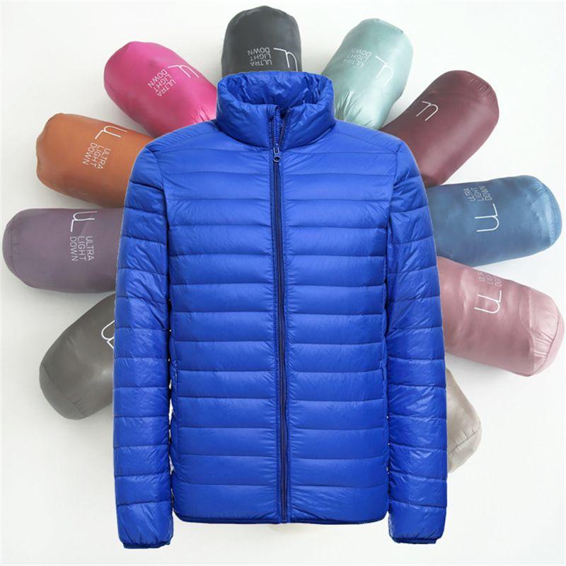 2018 New Mens Ultralight Jacket Casual Autumn Winter White Duck Down Windbreaker Overcoat Warm Parka Male Coat Fashion Outerwear