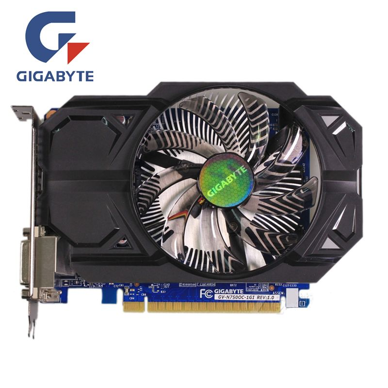 GIGABYTE GTX 750 1GB Graphics Card GV-N750OC-1GI 128Bit GDDR5 Video Cards for nVIDIA Geforce GTX750 Hdmi Dvi Used VGA On Sale