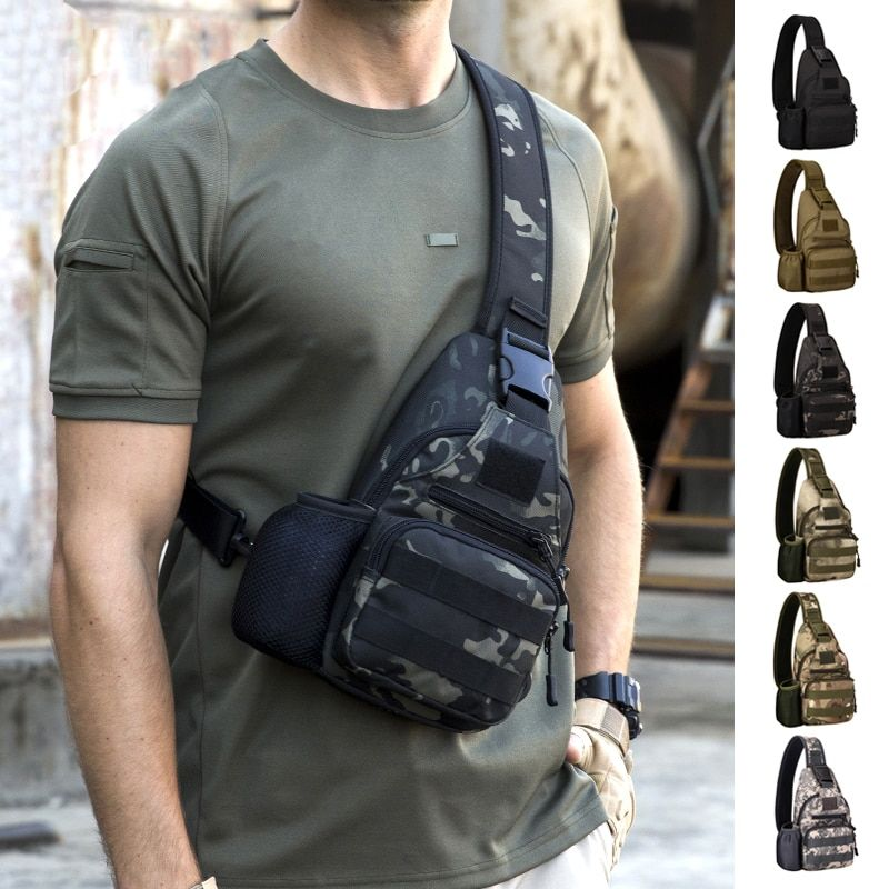 Outdoor Sports Bag Shoulder Travel Hiking Trekking Bag Cycling Climbing Backpack USB Charge Anti Theft Military Tactical Bags