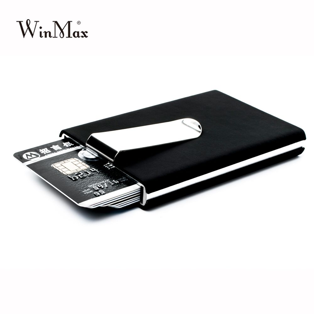 Winmax quilted card holder Waterproof credit card money cash clip Case Pocket Box Business ID Card Holder Cover Birthaday Gifts