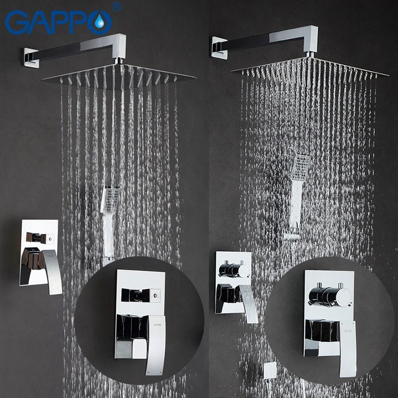 GAPPO shower faucets bath shower set rain shower head set mixer water bathtub faucet wall mounted faucet shower system