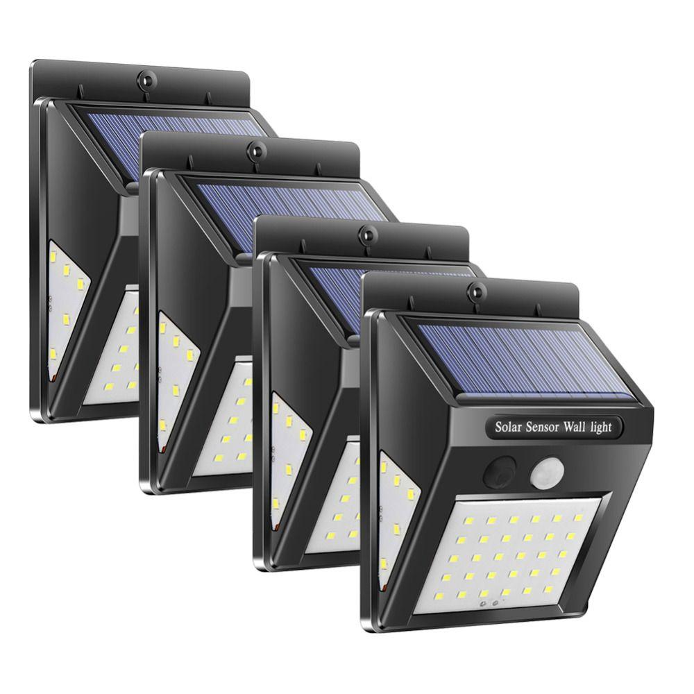 1/4pcs 30/40 LED Solar Power Lamp PIR Motion Sensor Wall Light Outdoor Waterproof Energy Saving Street Garden Yard Security Lamp