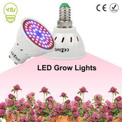 YSI Full Spectrum Grow Light E27 E14 LED Grow Lamp GU10 MR16  for Hydroponics Flowers Plants Vegetables Bulbs