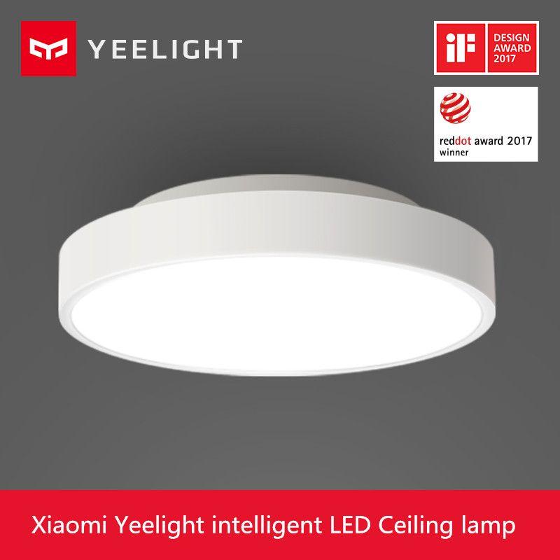 2018 New Original Xiaomi Yeelight Smart Ceiling Light Lamp Remote Mi APP WIFI Bluetooth Control Smart LED Color IP60 Dustproof