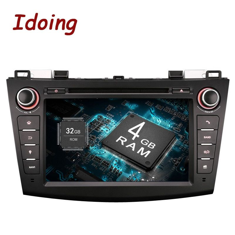 Idoing2Din For Mazda3 Steering-Wheel Android8.0 Car DVD Multimedia Video Player HD Capacitive Touch Screen Navigation Bluetooth