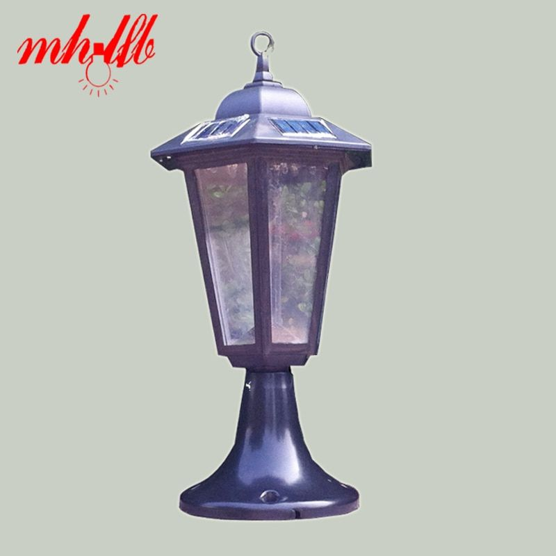 Retro Luz LED Solar Panel Powered Wall Lamps Outdoor Solar Lights Garden Pillar Sconce Stair Home Luminarias Decoration Lighting