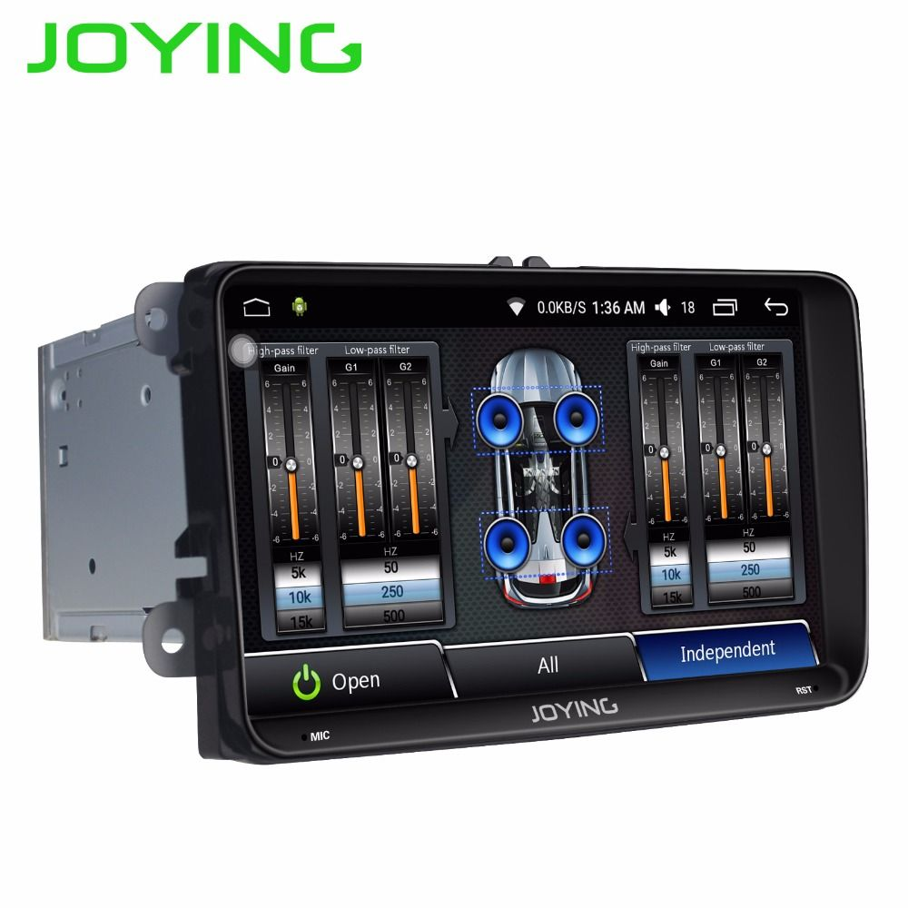 JOYING 2 DIN Android 6.0 car autoradio head unit tape recorder with DSP stereo player for VW Golf/Passat/Tiguan/Jetta/Polo/Caddy