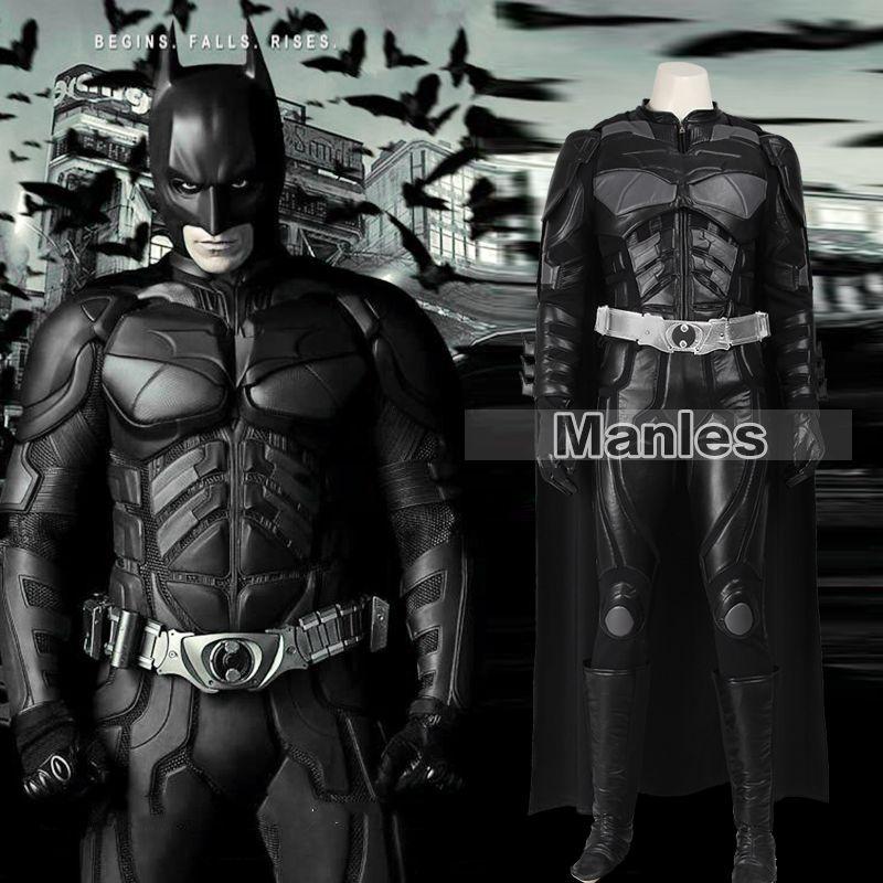Batmen Cosplay Kostüm Die Dark Knight Rises Batmen Bruce Wayne Kostüm Halloween Cosplay Kostüm Kleidung Erwachsene Männer Angepasst