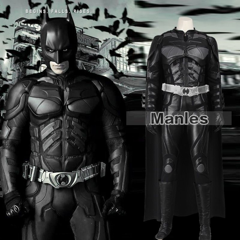 Batmen Cosplay Costume The Dark Knight Rises Batmen Bruce Wayne Costume Halloween Cosplay Costume Clothing Adult Men Customized