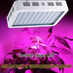 Diamante 300 W 600 W 800 W 1000 W 1200 W 1500 W 1800 W 2000 W doble chip LED crecer luz espectro completo rojo/azul/UV/IR para plantas de interior