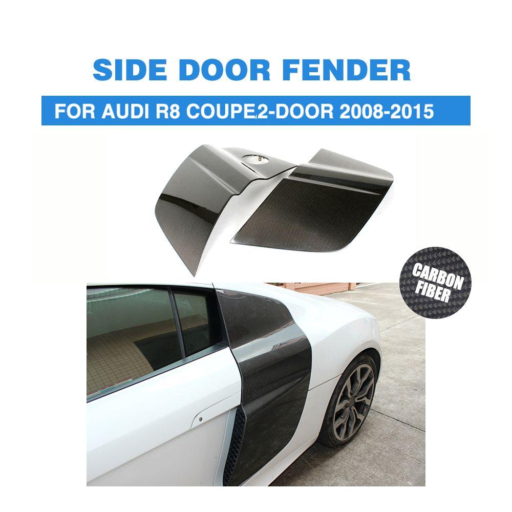1 paar Carbon Side Tür Klinge Kotflügel Schutz Platten für Audi R8 V8 V10 Coupe 2-Tür 2008 -2015