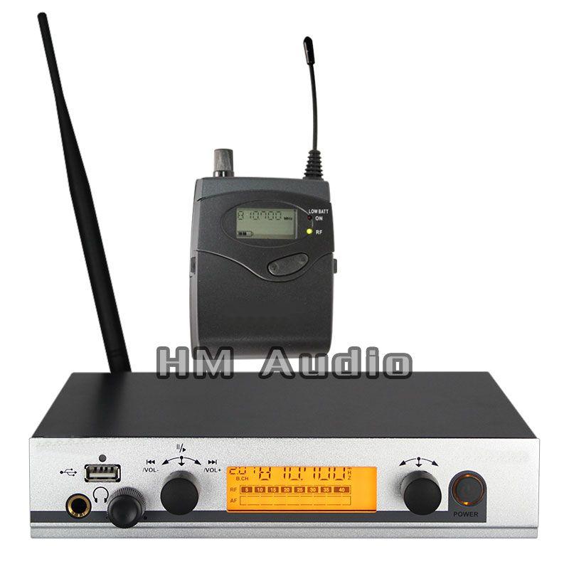 Dans L'oreille Moniteur Sans Fil Système EW300 IEM Unique de Surveillance de l'émetteur Professionnel pour la Scène