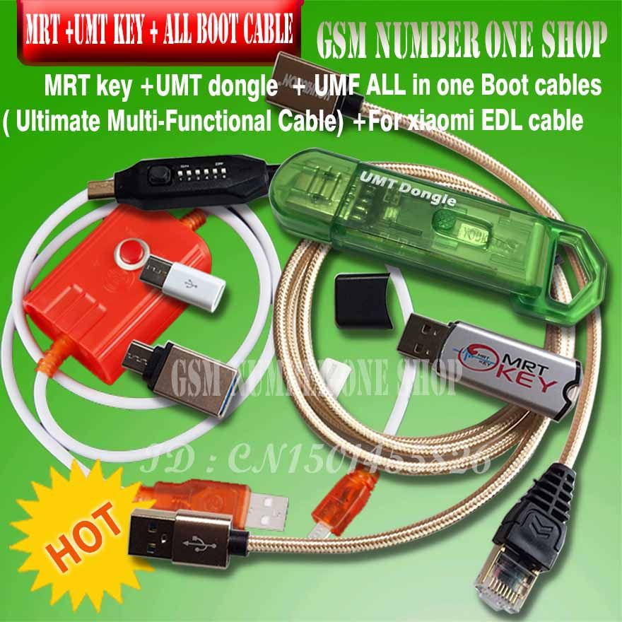 mrt key 2 mrt dongle 2 / mrt tool 2 + umt dongle + umf all in one boot cable ( Ultimate Multi-Functional )+ for xiaomi edl cable