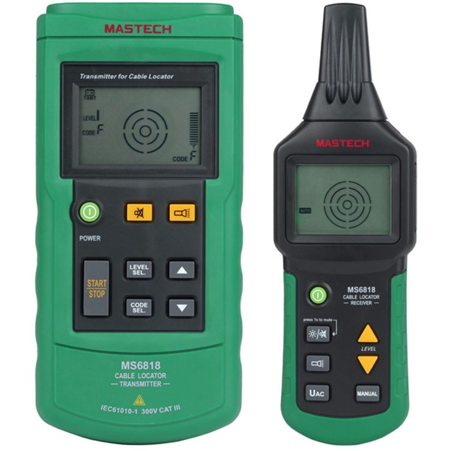 Digital MASTECH MS6818 advanced wire tester tracker multi-function Cable detector 12~400V Pipe Locat