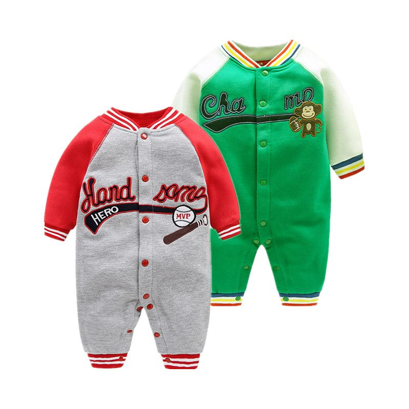 2018 new sport style boy clothes 0-24M baby rompers Leisure outwear infant clothing china imported baby clothes for girl