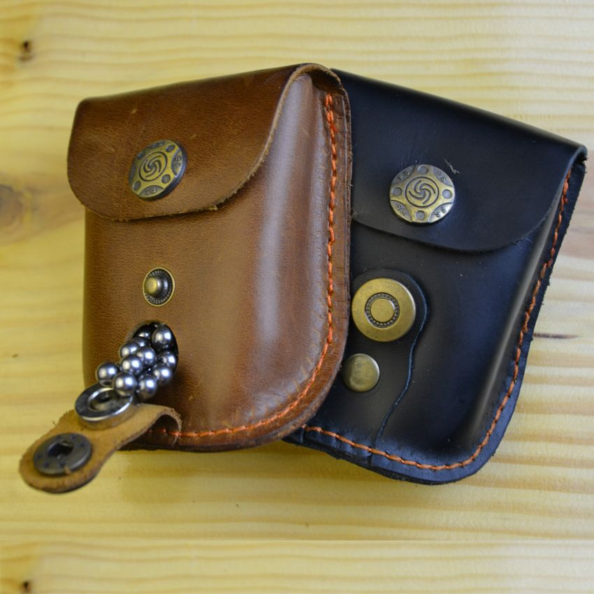 Leather Case Waist Bag Pouch for Catapult Slingshot Steel Balls Ammo Games New