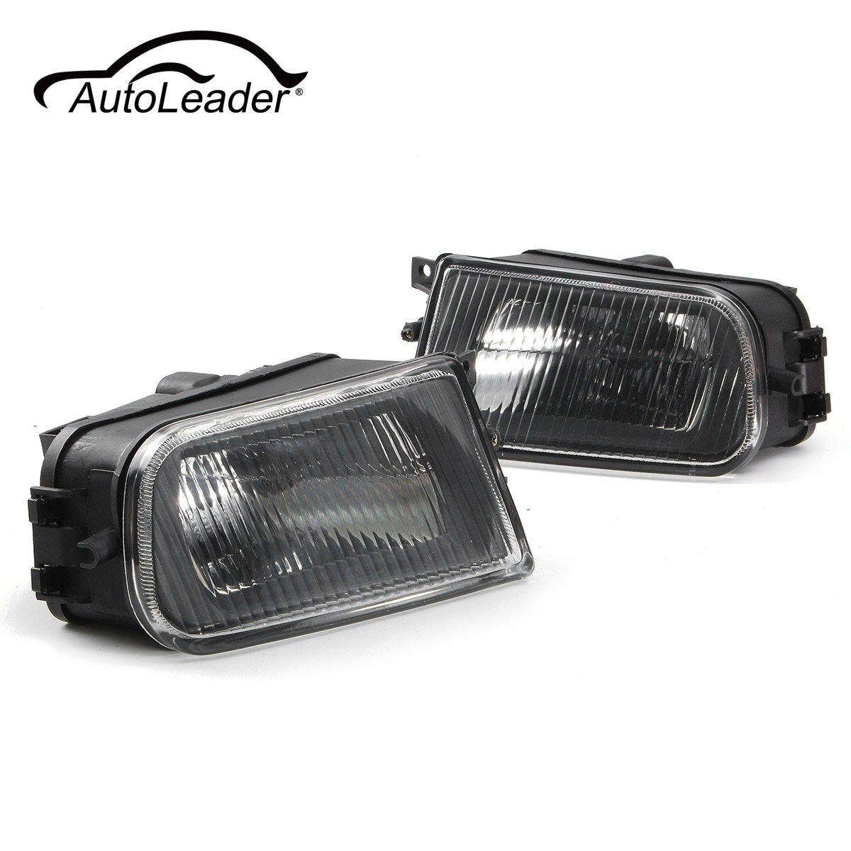 AutoLeader 1 Para Links/Rechts Schwarz Nebelscheinwerfer Stoßstange Lampe Gehäuse für BMW E39 5er 97-00/Z3 97-01 63178360575 63178381977