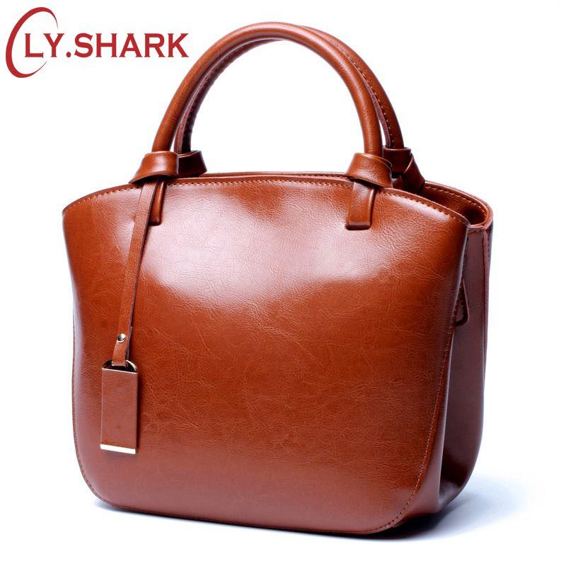 LY.SHARK Luxury Handbags Women Bags Designer Brand Genuine Leather Bag Women Leather Handbags Female Shoulder Messenger Bag 2018