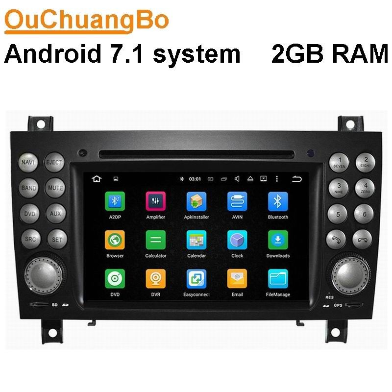 Ouchuangbo car dvd player for Benz SLK 171 2004-2011 with radio gps BT wifi USB AUX free map android 7.1 OS 2G RAM