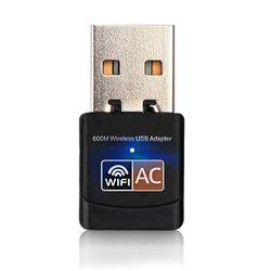 Sans fil USB WiFi Adaptateur 600 Mbps wi fi Antenne PC Carte Réseau Double Bande 2.4 + 5.8 Ghz usb Lan Ethernet Récepteur 802.11ac Wi-fi