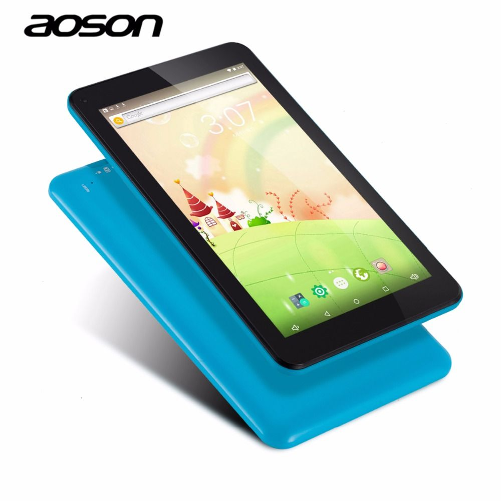Marke Aoson M753 7 zoll Android 6.0 Kinder Tablet PC IPS 16 GB/1 GB Bluetooth WIFI mit Kindersicherung Software Candy Blau farbe