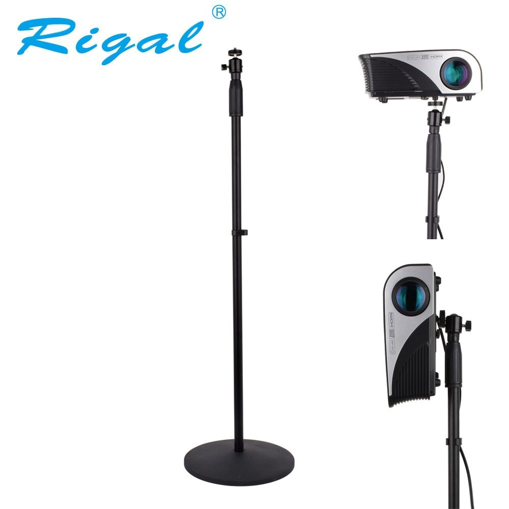 Rigal Universal Projector Floor Stand 77-165cm Adjustable Projector Bracket for XGIMI JMGO YG500 C80 DLP Projector Home Theater