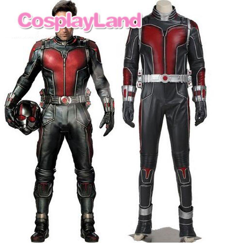 Ant man Costume Ant-man Scott Lang Cosplay Costume Leather Ant-men Jumpsuit Fancy Halloween Superhero Costumes Custom Made