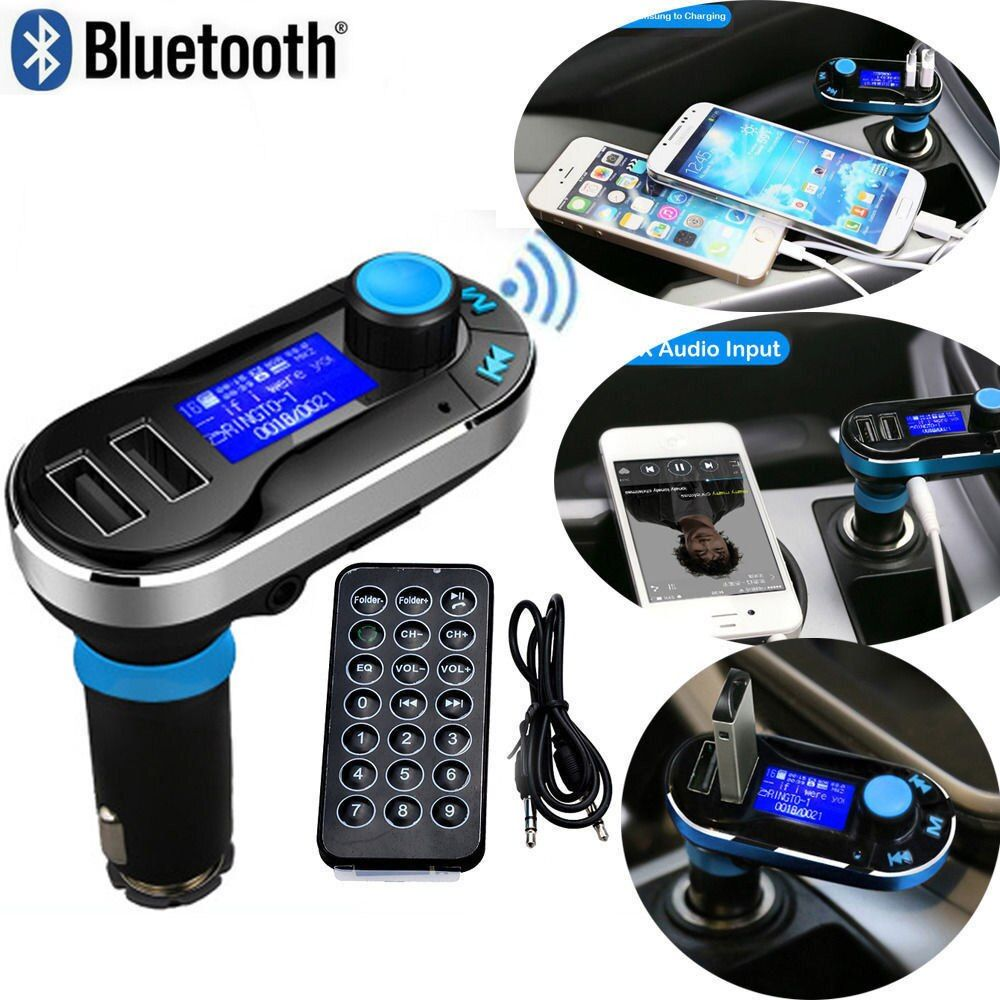 Hot voiture FM Transmitter Wireless Bluetooth Music Hands-free Calling Wireless MP3 Player Car Kit USB Charger SD LCD 3 Color