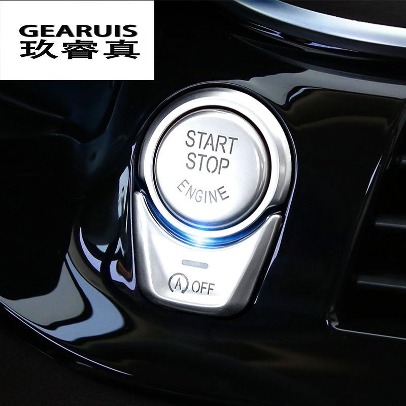 Стайлинга автомобилей запуска двигателя стоп кнопка включения Чехлы для мангала Наклейки для BMW 5 серии G30 2018 F шасси автомобили Салонные акс...