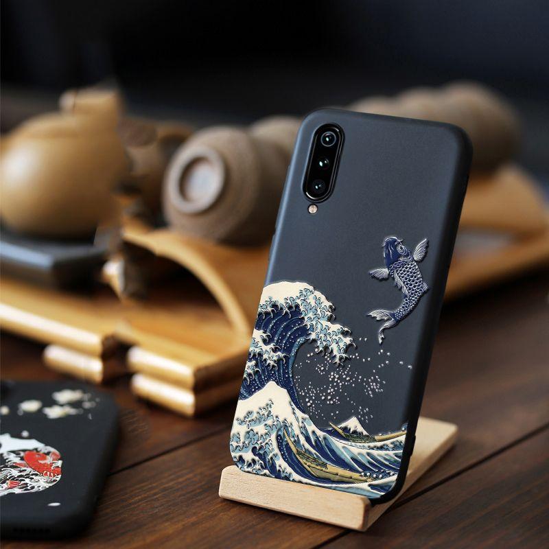 Pour Xiao mi mi 9T 9 Pro 5G SE CC9 CC9e rouge mi K20 Note 8 7 Pro étui 3D Relief mat couverture souple LICOERS étui officiel pour Xiao mi A3