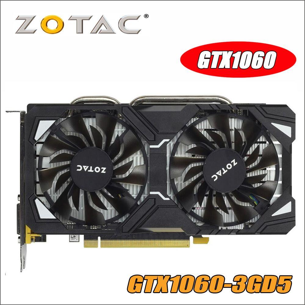 Original ZOTAC Video Karte GP106-400 GPU GTX 1060 3 gb 192Bit GDDR5 Grafiken Karten Karte für nVIDIA GeForce GTX1060 3GD5
