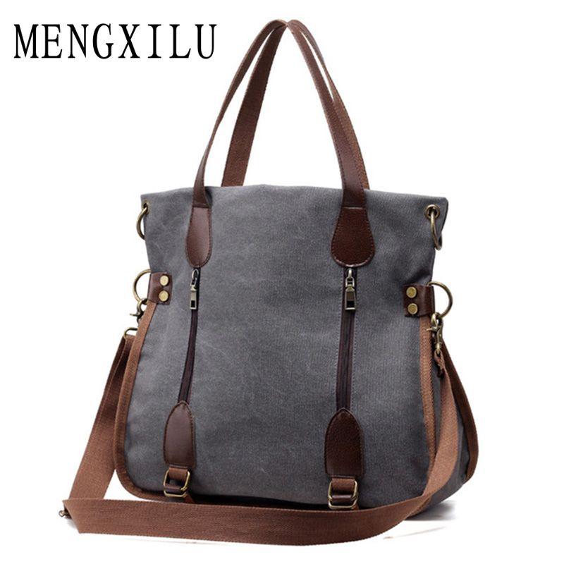 2017 Fashion Big Women Canvas Bag Ladies Shoulder Bags Handbags Women <font><b>Famous</b></font> Brands Large Captain Casual Tote Bags Sac A Main