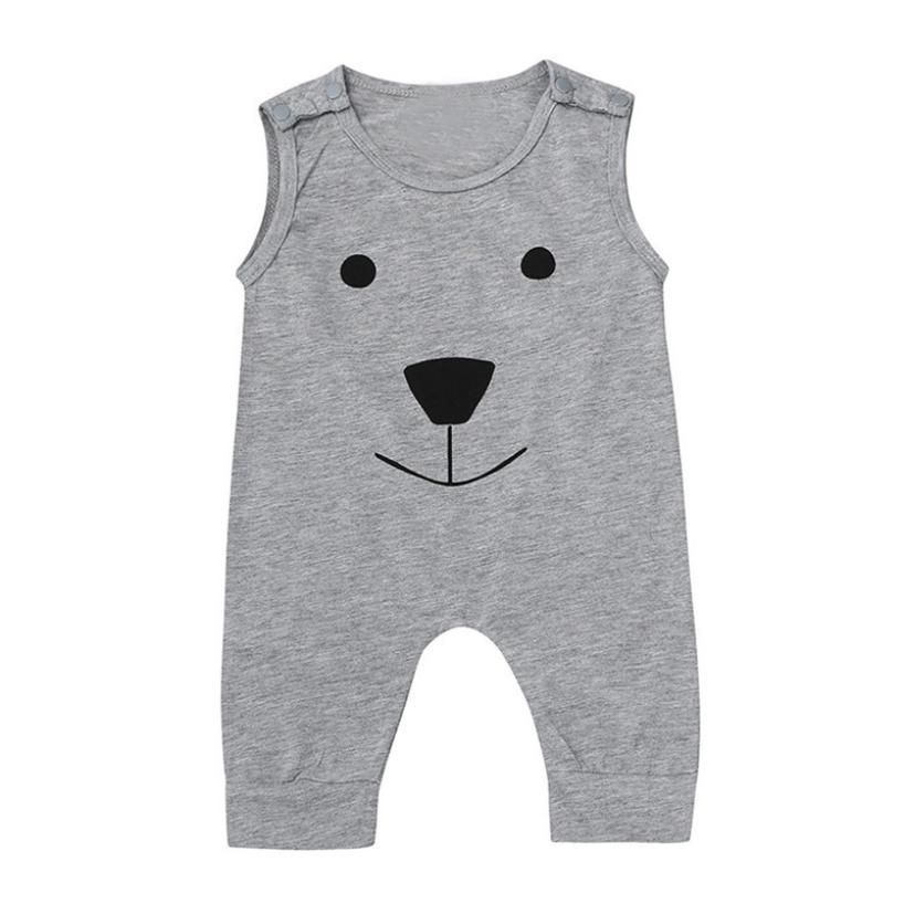 MUQGEW Toddler Boys Clothing Cartoon Bear Jumpsuit Romper Playsuit Outfits Clothes Playsuit Outfits Roupa Infantil W06