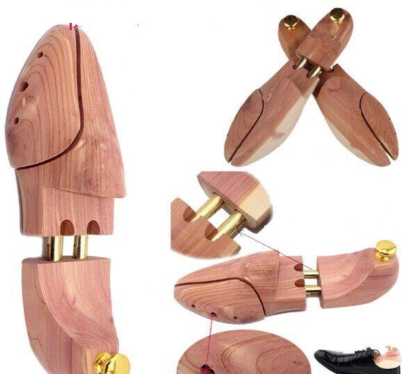 1 пара Новое поступление высокое качество кедра деревянный обуви дерево Shaper Хранитель Регулируемая деревянный подрамник обуви деревянный ...