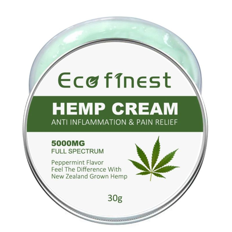 Advanced Hemp Cream Non-GMO Anti-Inflammation Relieve Joint PainNon-GMO Natural Hemp Extract Ointment for Back/Muscle Pain