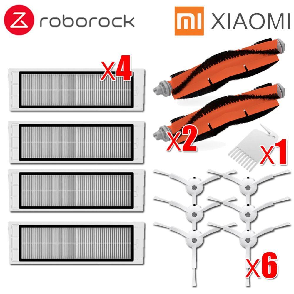 6x brosse latérale + 4x filtre HEPA + 2x brosse principale adapté pour xiaomi aspirateur roborock s50 S51 S55 S5 xiaomi roborock xiaomi mi Robot