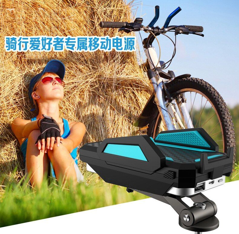 OBSHI Universal pop phone bike mount bicycle handlebar phone holder with power bank for iphone Samsung Xiaomi Navigation